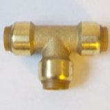 Brass Push Fit 15mm Equal Tee 15mm Fitting - 27241500